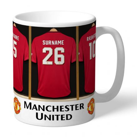 Personalised Manchester United FC Dressing Room Mug